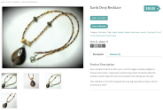 Earth Drop Necklace